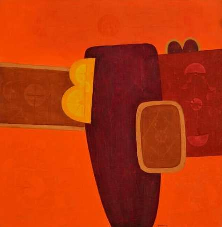 Untitled 12   Painting by artist Bhushan Vaidhya   acrylic   Canvas