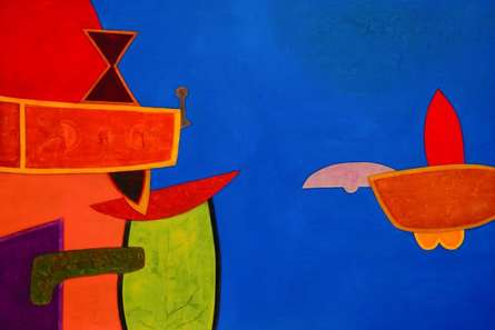 Untitled 6 | Painting by artist Bhushan Vaidhya | acrylic | Canvas