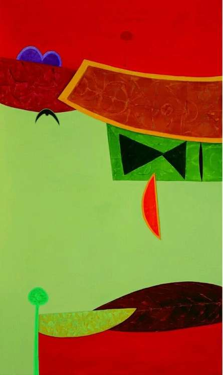 Untitled 2 | Painting by artist Bhushan Vaidhya | acrylic | Canvas