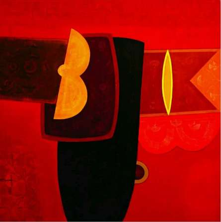 Abstract Acrylic Art Painting title Untitled 1 by artist Bhushan Vaidhya