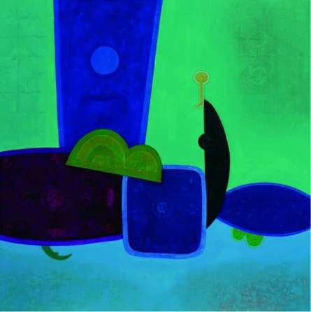 Untitled | Painting by artist Bhushan Vaidhya | acrylic | Canvas