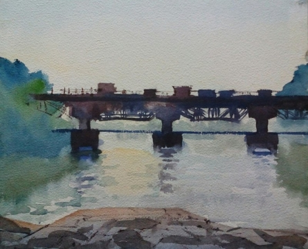 Landscape 1 | Painting by artist Surendra Jagtap | watercolor | Paper