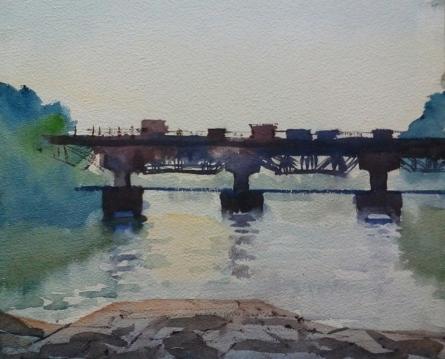 Landscape 1 | Painting by artist Surendra Jagtap | watercolor | Paper