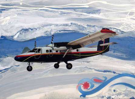 Aviation Oil Art Painting title 'Chariots Of Love 2' by artist Ankur Rana