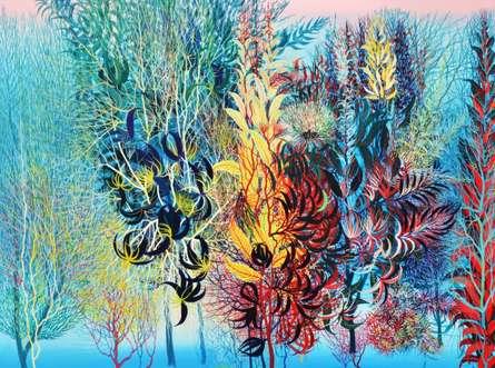 Nature Acrylic Art Painting title 'Exuberance XVII' by artist Kishore Kumar Sahu