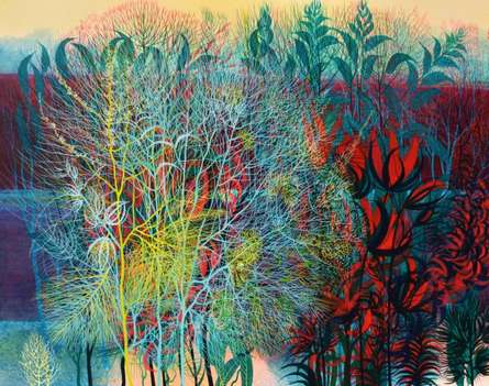 Exuberance XVI   Painting by artist Kishore Kumar Sahu   acrylic   Canvas