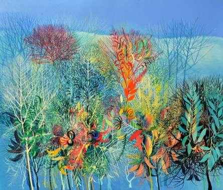 Nature Acrylic Art Painting title My Village Garden II by artist Kishore Kumar Sahu
