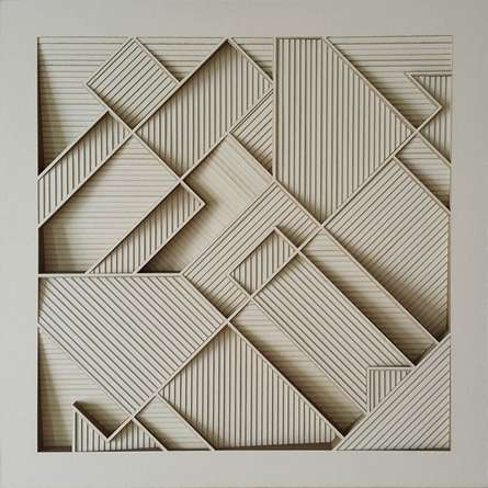 Different Shapes in Square | Sculpture by artist Ravi Shankar | paper