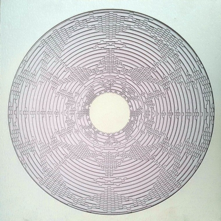 Combination of circle and Square | Sculpture by artist Ravi Shankar | paper