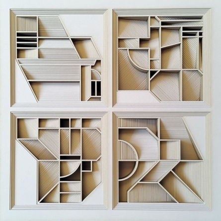 Geometrical shapes in Square | Sculpture by artist Ravi Shankar | paper