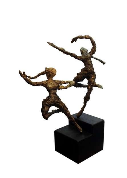 Celebration-iv | Sculpture by artist Rohan  Pawar | Brass