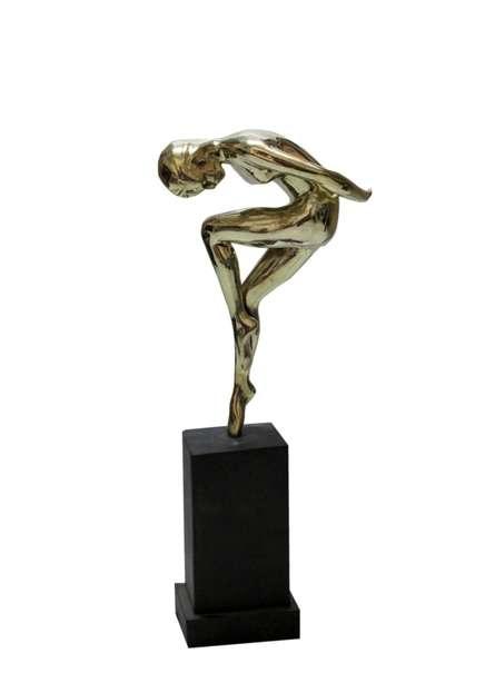 Brass Sculpture titled 'Gymnast' by artist Rohan Pawar