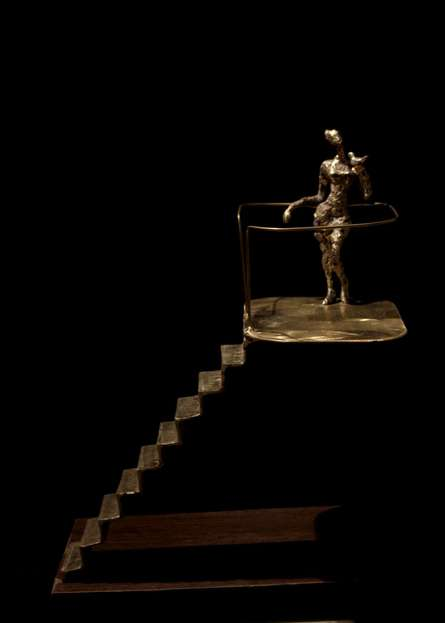 Rohan Pawar | Meeting Sculpture by artist Rohan Pawar on Brass | ArtZolo.com