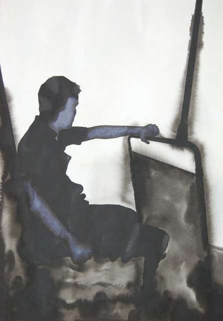Thinking   Painting by artist Manish  Sutar   watercolor   Paper