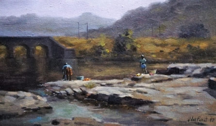 Afternoon 1 | Painting by artist Uday Farat | oil | Canvas