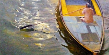 Reflection 3 | Painting by artist Uday Farat | oil | Canvas
