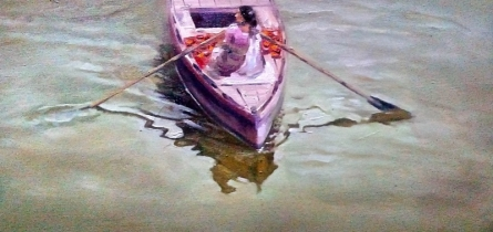 Reflection 4 | Painting by artist Uday Farat | oil | Canvas