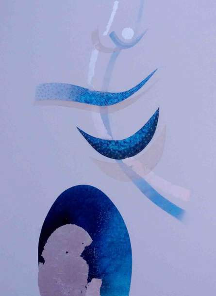 Shiva | Painting by artist Uday Goswami | mixed-media | Canvas