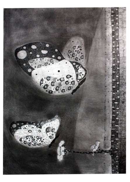 Butterfly 2 | Drawing by artist Prathamesh Khandvilkar |  | charcoal | Paper