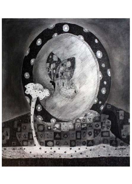 Butterfly | Drawing by artist Prathamesh Khandvilkar |  | charcoal | Paper