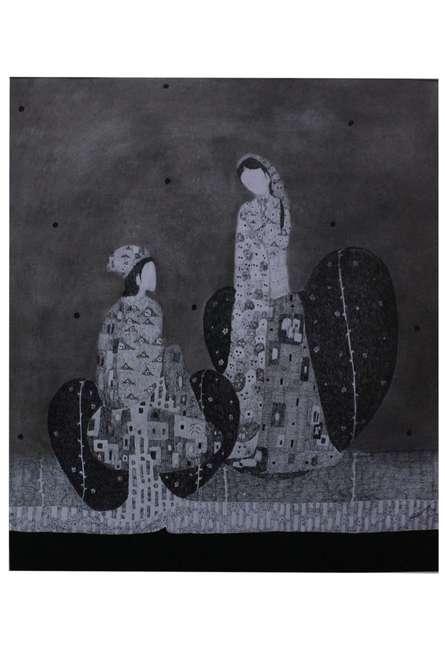 Couple 3 | Drawing by artist Prathamesh Khandvilkar |  | charcoal | Paper