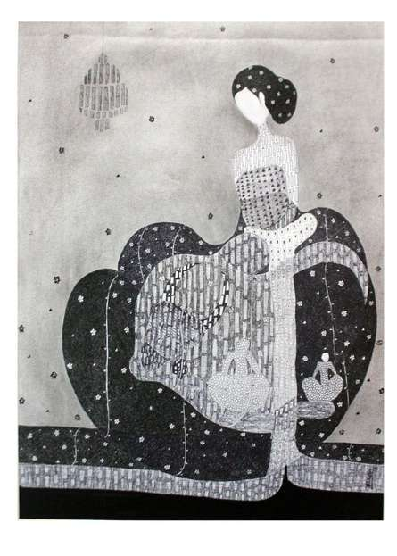 Lady 2   Drawing by artist Prathamesh Khandvilkar      charcoal   Paper
