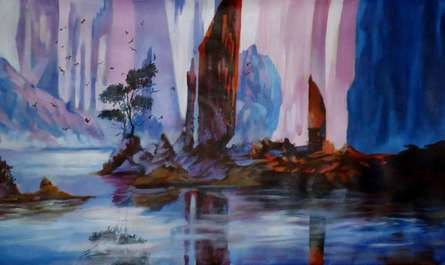 Landscape Acrylic Art Painting title 'Landscape' by artist NIkHIl Patil