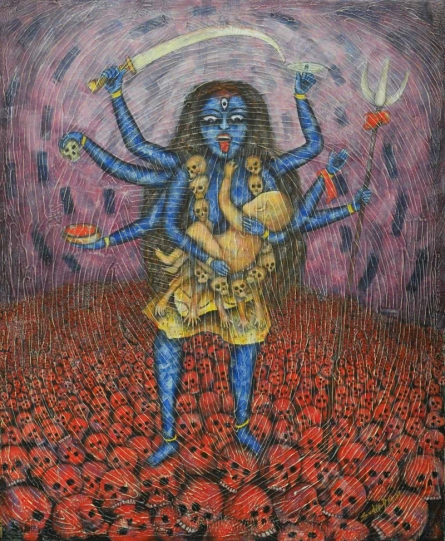 Maa | Painting by artist Sudip Das | tempera | Canvas