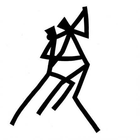 Figurative Ink Art Drawing title 'Dance salsa' by artist Ashok Hinge