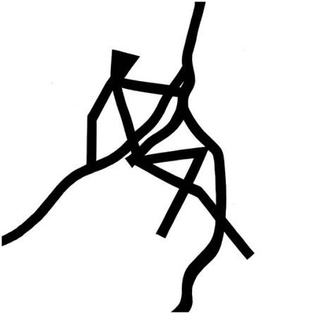 Rope climbing | Drawing by artist Ashok  Hinge |  | ink | board
