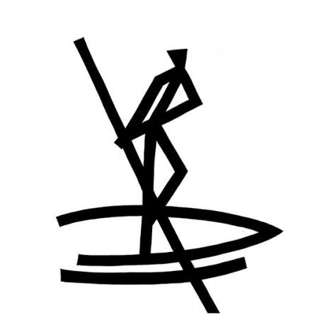 Boat man rowing | Drawing by artist Ashok  Hinge |  | ink | board