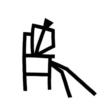 Resting | Drawing by artist Ashok Hinge | | ink | board
