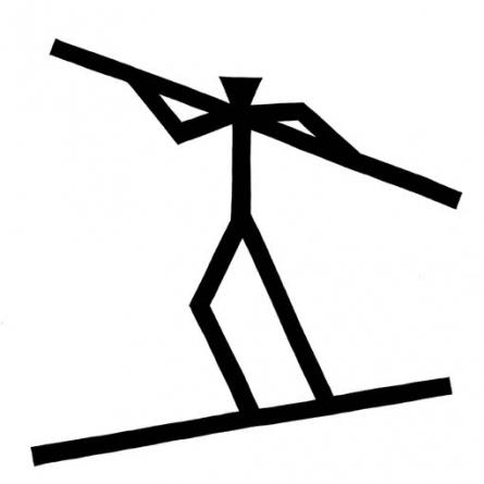 Acrobat | Drawing by artist Ashok Hinge | | ink | Board
