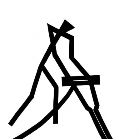Digging | Drawing by artist Ashok Hinge | | ink | Board