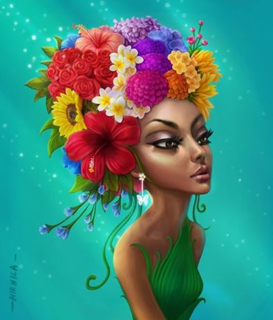Happiness   Digital_art by artist Nikhila Anil   Art print on Canvas