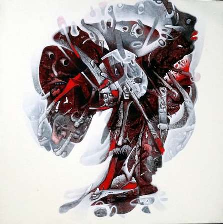 Untitled | Painting by artist Mahesh Pal  Gobra | acrylic | canvas