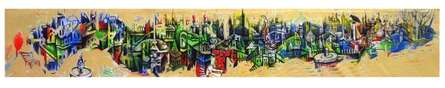 Mahesh Pal Gobra | Acrylic Painting title City of Bhopal on canvas | Artist Mahesh Pal Gobra Gallery | ArtZolo.com