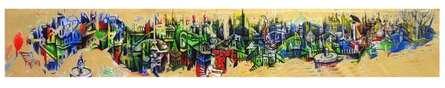 City of Bhopal | Painting by artist Mahesh Pal  Gobra | acrylic | canvas