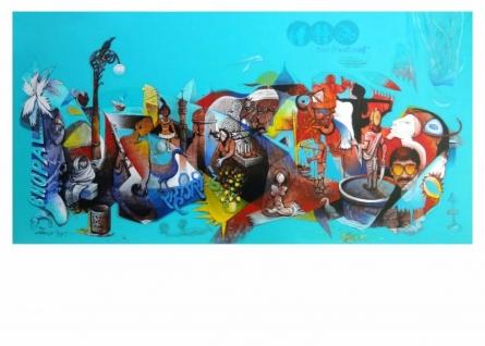 Rahagiri Day | Painting by artist Mahesh Pal  Gobra | acrylic | canvas