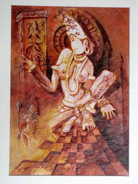 The Form of Sculpture VII | Painting by artist Mahesh  Pal Gobra | acrylic | paper
