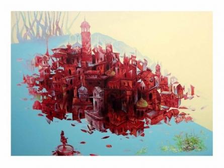 Bhopal City | Painting by artist Mahesh  Gobra | acrylic | Acrylic on Canvas