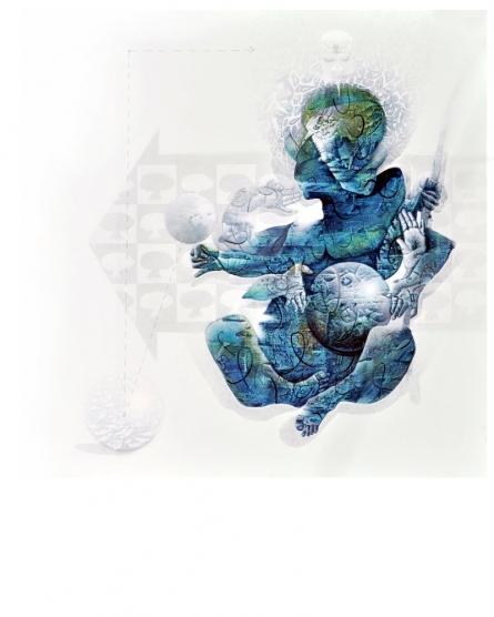 The Earth | Painting by artist Mahesh  Pal Gobra | acrylic | canvas