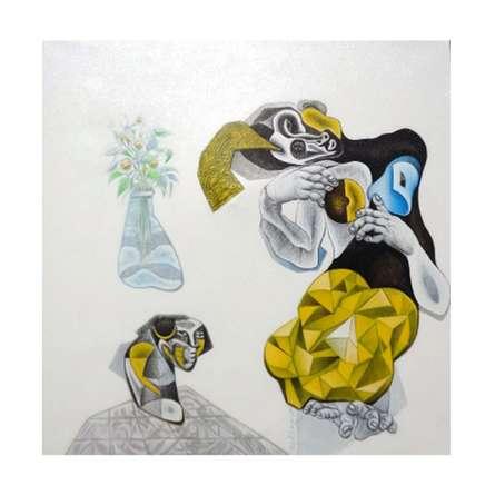 The Women | Painting by artist Mahesh   Pal Gobra | acrylic | canvas