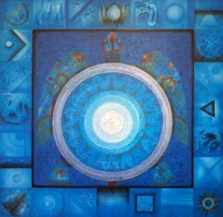 Meditation 8 | Painting by artist Nilesh Nikam | acrylic | Canvas