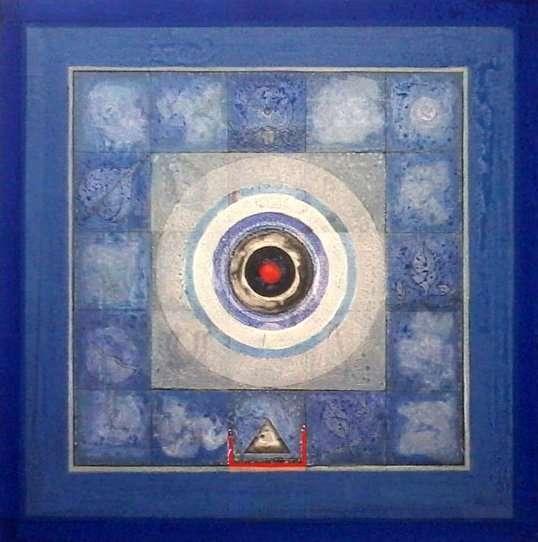 Abstract Acrylic Art Painting title Meditation 4 by artist Nilesh Nikam