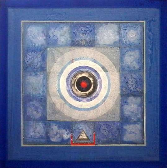Meditation 4 | Painting by artist Nilesh Nikam | acrylic | Canvas
