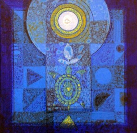 Meditation 12 | Painting by artist Nilesh Nikam | acrylic | Canvas