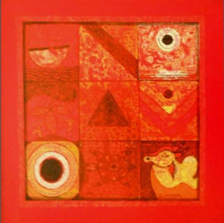 Meditation 5 | Painting by artist Nilesh Nikam | acrylic | Canvas