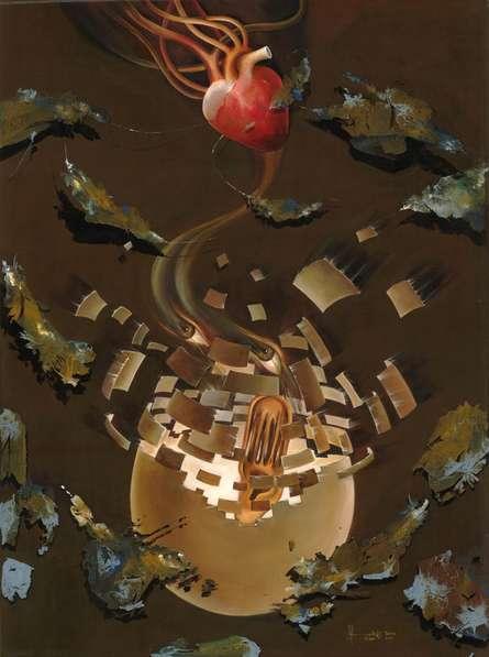 Creation | Painting by artist Zakir Hussain | acrylic | Canvas