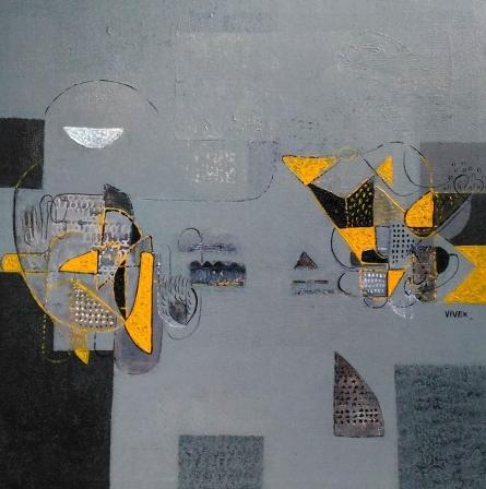 Untitled 1 | Painting by artist Vivek Nimbolkar | acrylic | Canvas
